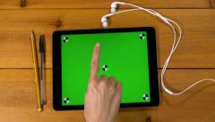 4k female 16 multi touch touchscreen gestures all in one. iPad, tablet pc UHD Stock Footage