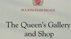 Buckingham Palaces The Queens Gallery and Shop and The Royal Mews and shop - stock footage