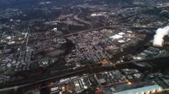 Aerial of Philadelphia Pennsylvania Stock Footage
