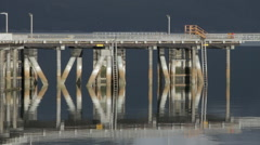 Colorful Reflections Dock And Piers Calm Stock Footage