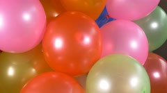 4k Happy Birthday message colorful balloons celebration background, anniversary - stock footage