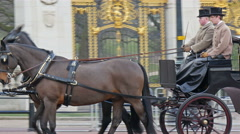 A royal horse carriage - stock footage