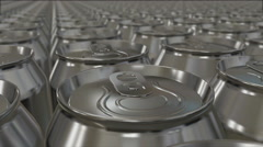 aluminum cans - stock footage