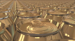 Aluminum cans Stock Footage