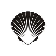 Scallop seashell icon - stock illustration