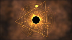 Magic circle, Geometric Background Animation - Loop Golden Stock Footage
