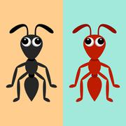 Black and red ants Stock Illustration
