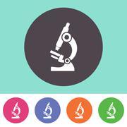Microscope icon Stock Illustration