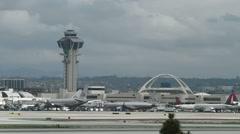 Establishing shot of Los Angeles International Airport Stock Footage
