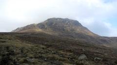 4k beautiful mountain landscape scotland highlands adventure power success Stock Footage
