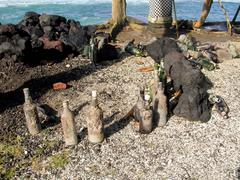 Bottles after a party at the beach in Candi Dasa Kuvituskuvat