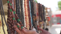 Extreme Close Up Of Handmade Jewellery Stock Footage