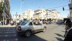 Rebels block cars during Purim Stock Footage
