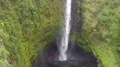 422 foot waterfall on the Big Island of Hawaii named Akaka Falls Stock Footage