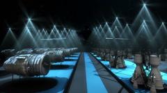 Rocket engine hangar Stock Footage