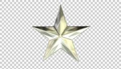 Animated spinning realistic shining silver star 2 Stock Footage