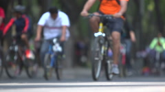 BPMX61x-Mexico, hundreds of bikes, focus on tires. Low angle, wide, no faces. - stock footage