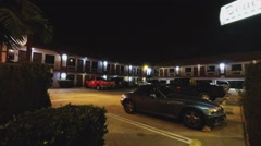 Generic Motel Motor Lodge At Night- No People Stock Footage