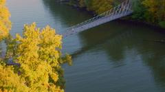 Popolopen Footbridge Hudson Valley Stock Footage