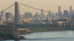 George Washington Bridge (GWB) - stock footage