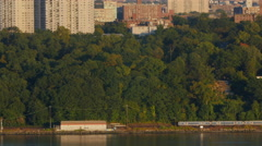 Metro-North Railroad's Hudson Line Stock Footage