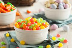 Sweet Sugary Easter Candy - stock photo