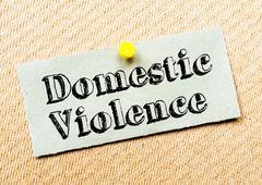Domestic Violence Message - stock photo