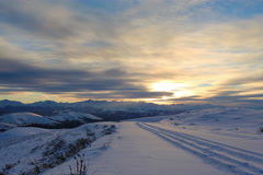 4K. Timelapse sunset in the mountains, Northern Caucasus, Russia. Ultra HD Stock Footage