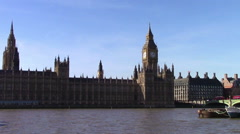 Parliament on the Thames Stock Footage