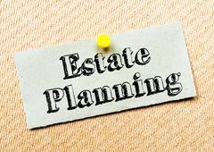 Estate Planning Message - stock photo