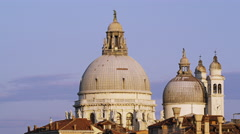 Basilica di Santa Maria della Salute in Venice, Italy 4K Stock Video Footage - stock footage