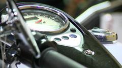 Motorcycle speedometer Stock Footage