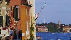 Hotels on the Grand Canal in Venice, Italy 4K Stock Video Footage Stock Footage