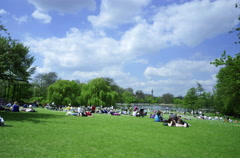 4k Time Lapse of Regent's Park on a sunny day realistic grading, London Stock Footage