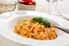 Red risotto - stock photo