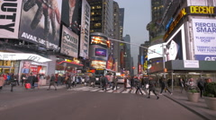 4K video New York City Time Square in the evening Stock Footage