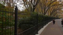 Walking near Washington Market Park on Greenwich Street Stock Footage