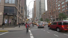 Crossroad between 6th Avenue and 24 Street, New York Stock Footage