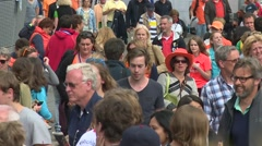 Crowd gathering Stock Footage