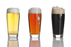Three kinds of beer XXL Stock Photos
