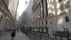 New York Stock Exchange on Wall Street, New York Stock Footage