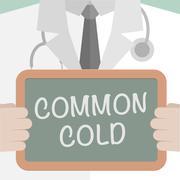 Medical Board Common Cold - stock illustration