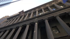 National City Bank Building with columns in Lower Manhattan Stock Footage