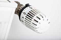 Thermostatic radiator valve Stock Photos