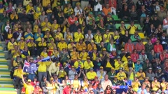 Winning celebrations of Australia  Stock Footage