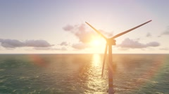 Offshore wind turbine Stock Footage