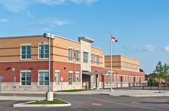 New Canadian Elementary School Building Stock Photos