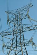 Electrical Transmission Tower(Electricity Pylon) Stock Photos