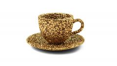 coffee gold - stock footage