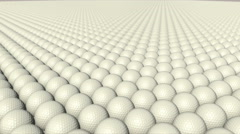 White Golf balls Stock Footage